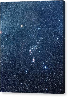 The Constellation Of Orion Canvas Print by Luke Dodd