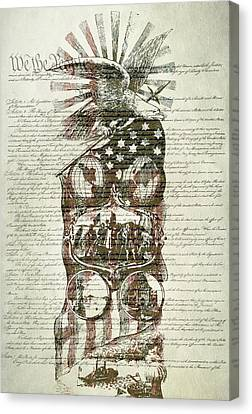 The Constitution Of The United States Of America Canvas Print by Dan Sproul