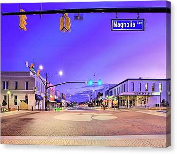 The Corner Of College And Magnolia Canvas Print by JC Findley