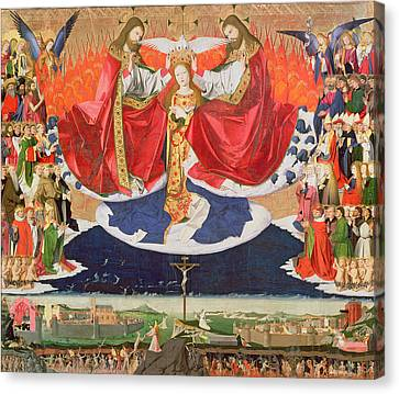 The Coronation Of The Virgin Canvas Print by Enguerrand Quarton