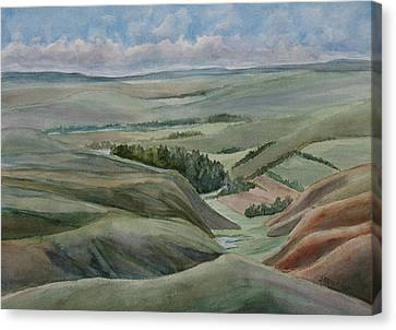The Corrugated Plain Canvas Print by Jenny Armitage