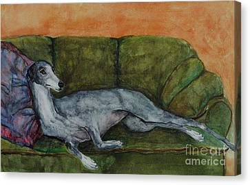 The Couch Potatoe Canvas Print by Frances Marino