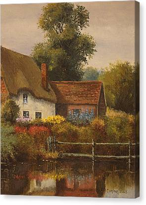 The Country Cottage Canvas Print by Sean Conlon