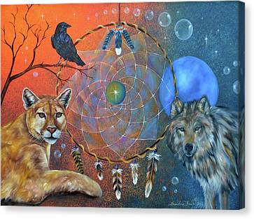 The Courage To Be Free Canvas Print by Sundara Fawn