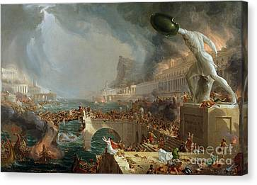 The Course Of Empire - Destruction Canvas Print by Thomas Cole