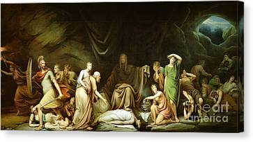The Court Of Death Canvas Print by Rembrandt Peale