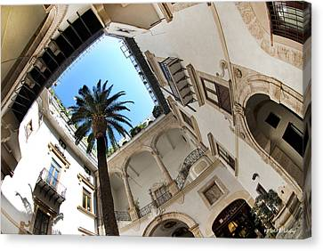 The Courtyard Canvas Print by Robert Lacy