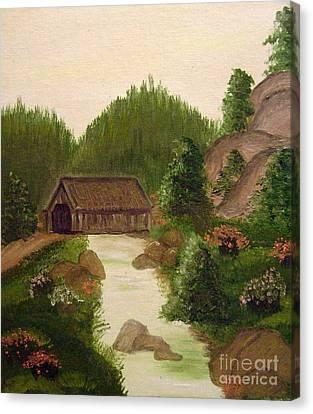The Covered Bridge Canvas Print by Kim Walker