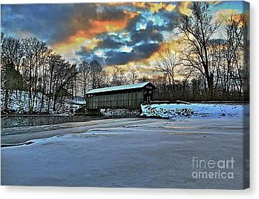 The Covered Bridge Canvas Print by Robert Pearson