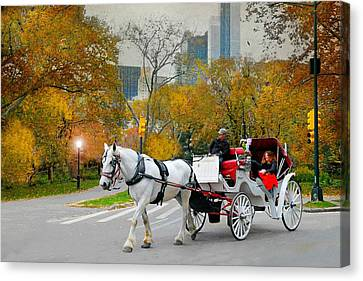 The Covered Carriage Canvas Print by Diana Angstadt