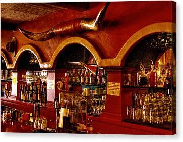 The Cowboy Club Bar In Sedona Arizona Canvas Print by David Patterson