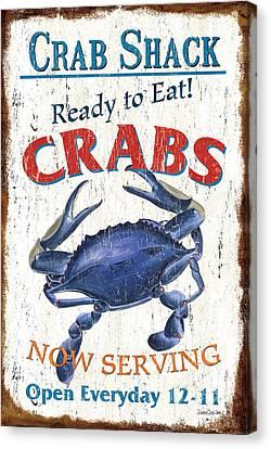 The Crab Shack Canvas Print by Debbie DeWitt