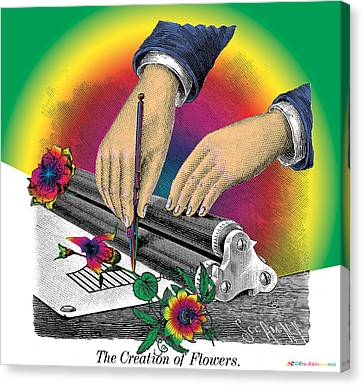 The Creation Of Flowers Canvas Print by Eric Edelman