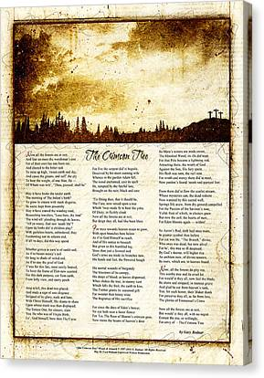 The Crimson Tree Poem Canvas Print by Gary Bodnar