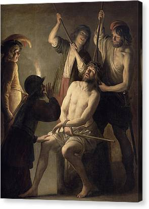 The Crowning With Thorns Canvas Print by Jan Janssens