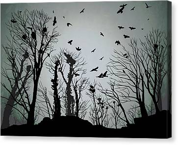 The Crows Roost - Twilight Blue Canvas Print by Philip Openshaw