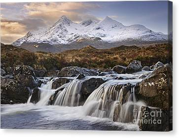 The Cuillins From Sligachan Canvas Print by Rod McLean