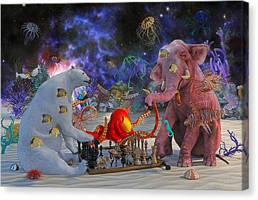 The Curious Game Canvas Print by Betsy Knapp