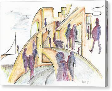 The Curves Of The Streets, 18 June, 2015 Canvas Print by Tatiana Chernyavskaya