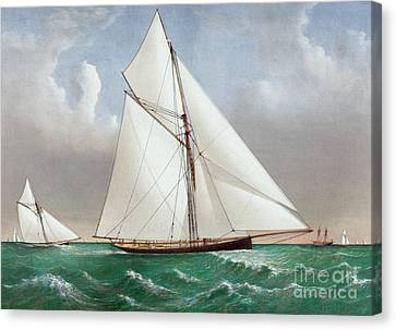 The Cutter Genesta Canvas Print by Currier and Ives
