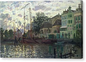 The Dam At Zaandam Canvas Print by Claude Monet
