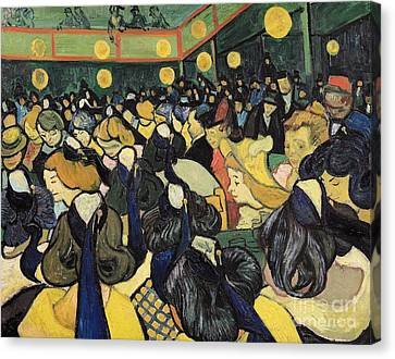 The Dance Hall At Arles Canvas Print by Vincent Van Gogh