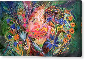 The Dance Of Flowers Canvas Print by Elena Kotliarker