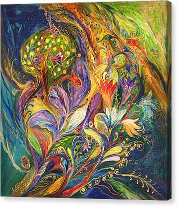 The Dance Of Lilies Canvas Print by Elena Kotliarker