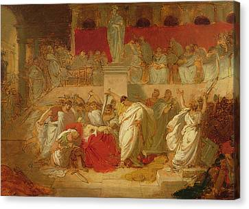 The Death Of Caesar  Canvas Print by Vincenzo Camuccini