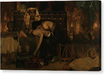 The Death Of The Firstborn  Canvas Print by Lawrence Alma-Taldema