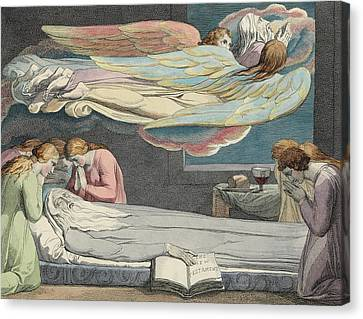 The Death Of The Good Old Man Canvas Print by Sir William Blake