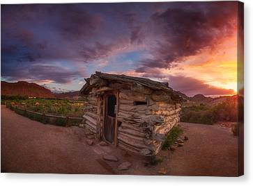 The Delicate Little Cabin Canvas Print by Darren  White