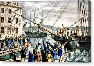 The Destruction Of Tea At Boston Canvas Print by Photo Researchers
