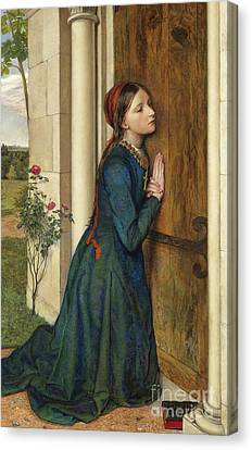 The Devout Childhood Of Saint Elizabeth Of Hungary, 1852 Canvas Print by Charles Alston Collins