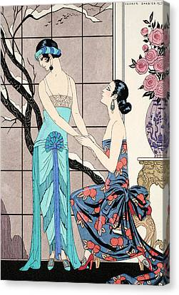 The Difficult Admission Canvas Print by Georges Barbier