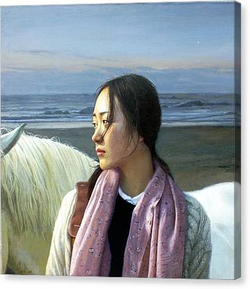 The Distance Of Enlightenment Canvas Print by Chen Baoyi