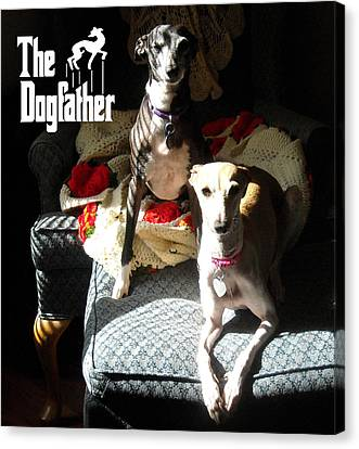 The Dogfather Canvas Print by Ray LeCara Jr