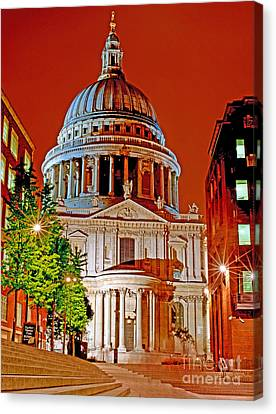 The Dome Of St Pauls Canvas Print by Chris Smith
