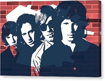The Doors Graffiti Tribute Canvas Print by Dan Sproul