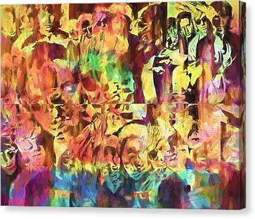 The Doors Psychedelic Tribute Canvas Print by Dan Sproul