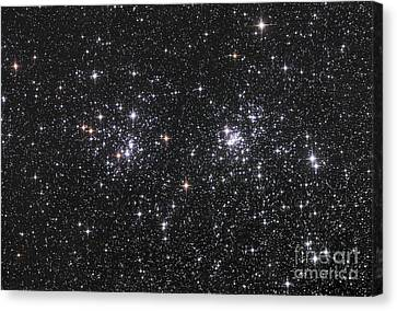 The Double Cluster, Ngc 884 And Ngc 869 Canvas Print by Robert Gendler