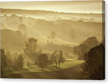The Downs In Autumn Canvas Print by Ian Hufton