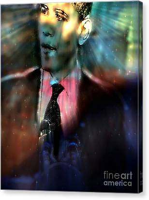 The Dreams Of Obama Canvas Print by Wbk