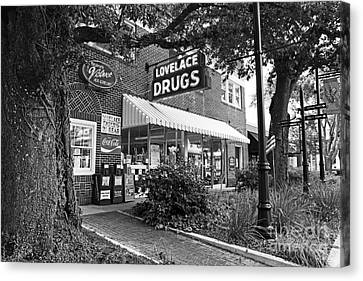 The Drug Store Canvas Print by Scott Pellegrin
