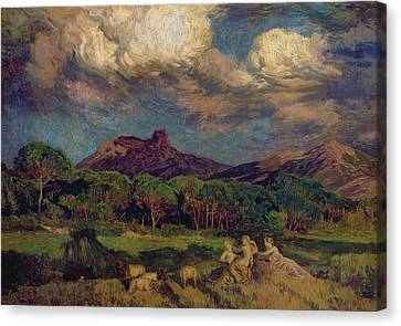 The Dryads Canvas Print by Marie Auguste Emile Rene Menard