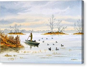 The Duck Blind Isalnd Canvas Print by Bill Holkham
