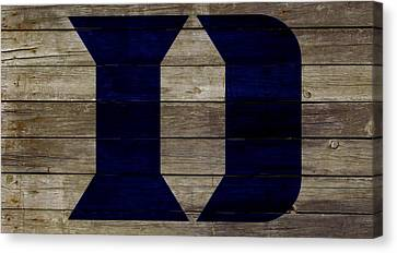 The Duke Blue Devils 2w Canvas Print by Brian Reaves