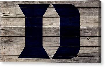 The Duke Blue Devils 3w Canvas Print by Brian Reaves