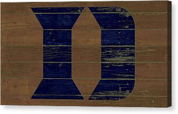 The Duke Blue Devils W1 Canvas Print by Brian Reaves