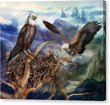The Eagle's Nest Canvas Print by Carol Cavalaris